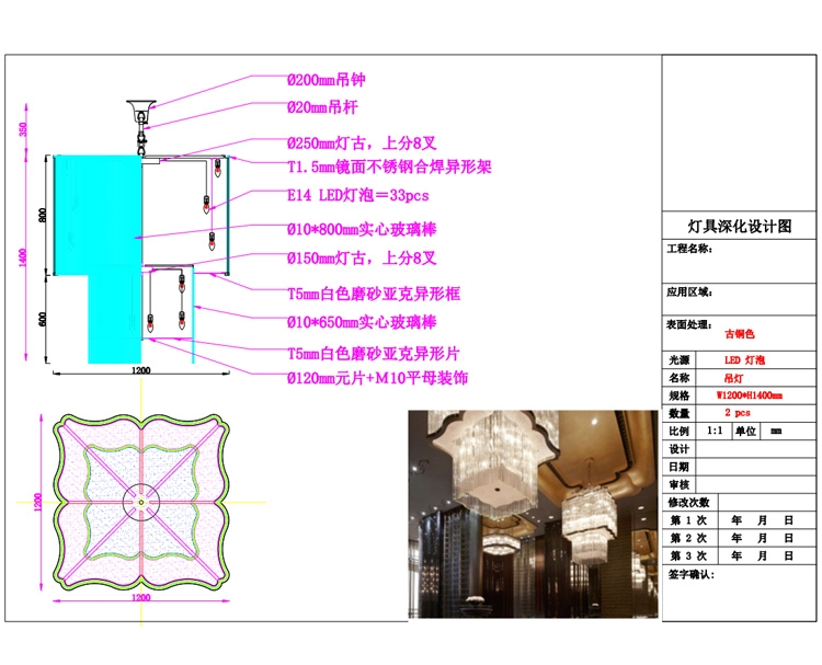 Chinese chandelier deepening map
